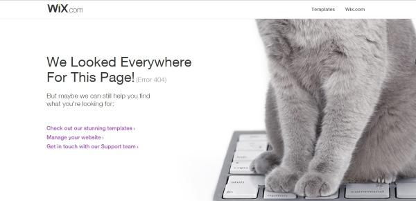 דף שגיאה 404 של Wix
