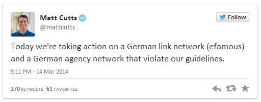 מאט קאטס מודיע בטוויטר על מתן עונש לאתר