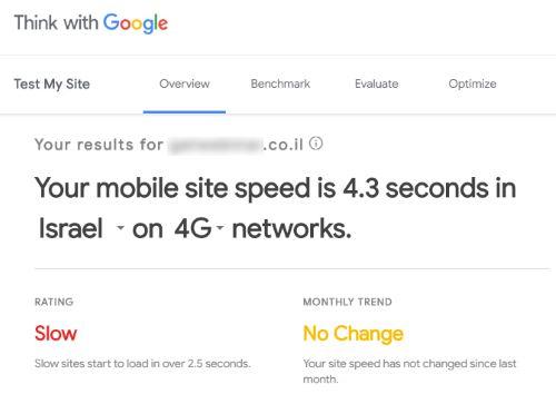מהירות אתר והרי התוצאות