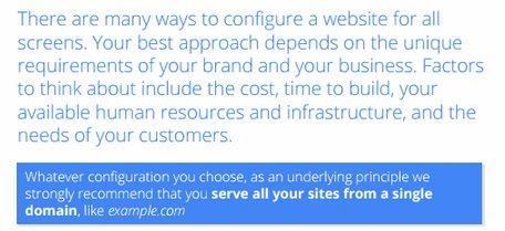 גוגל תומכת בכל מבנה שתבחר