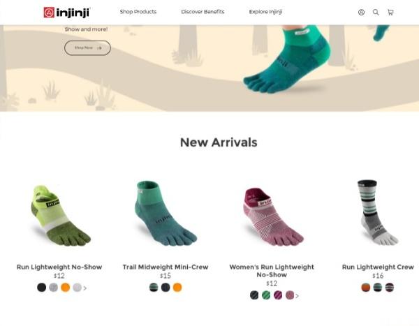 injinji מייצרת גרביים