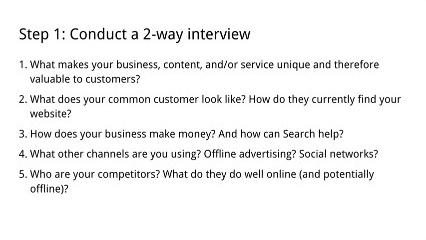 איך לבחור חברת קידום אתרים, ראיון דו-כיווני