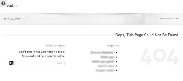 דף שגיאה 404 בסיסי